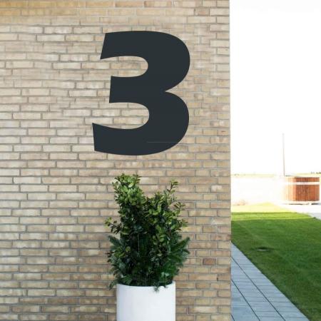 Sort husnummer 3 - 80 cm