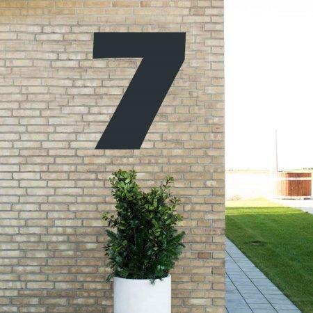 Sort husnummer 7 - 80 cm