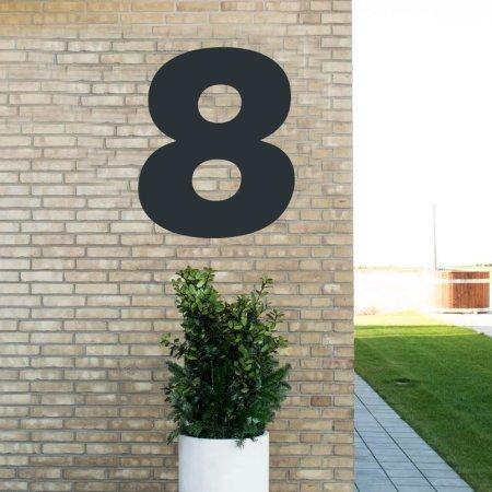 Sort husnummer - 80 cm