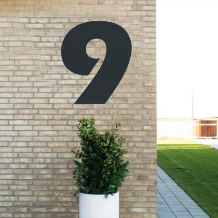 Sort husnummer 9 - 80 cm