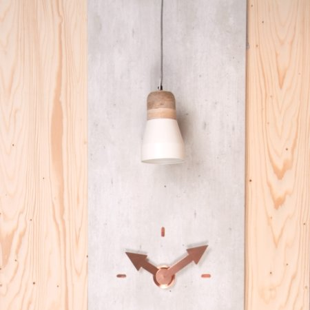 Pendant Bold Wood lampe - hvid medium