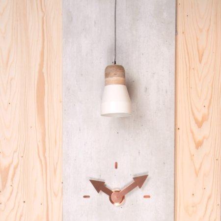 Pendant Bold Wood lampe - hvid medium
