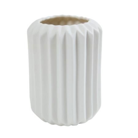 Hvid vase / urtepotteskjuler