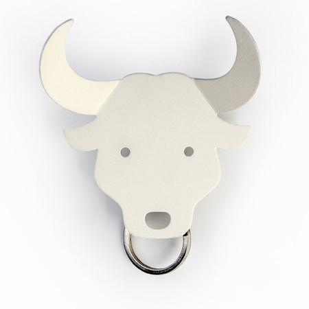 Qualy n�gleholder - hvid bull