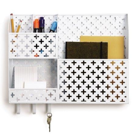 Hvid organizer til væg