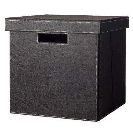 Hyldebox med låg - sort filt