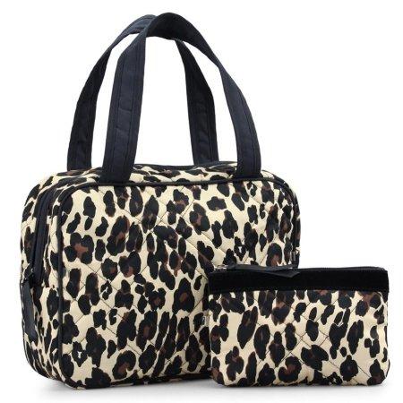 Leopard dame toilettaske og kosmetikpung