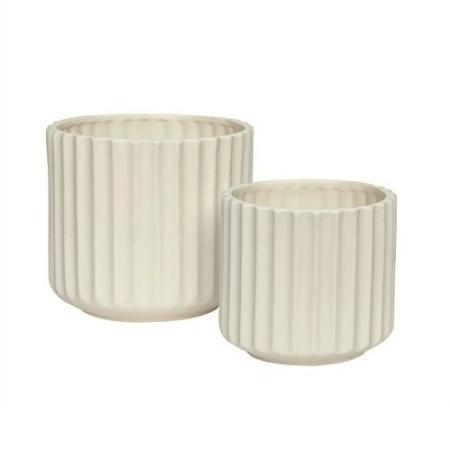 Keramik potter - 2 stk.