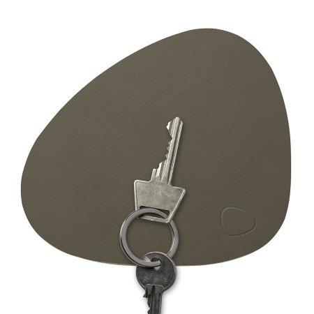 Key board i læder - army green