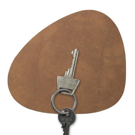 Key board i læder - natur