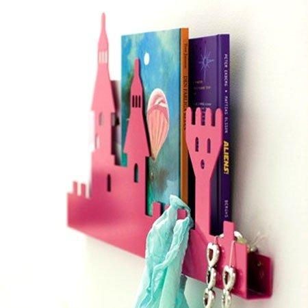 Knagerække med pink slot