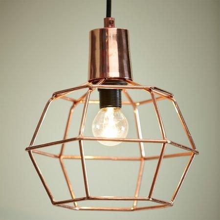 Lampe med kobber
