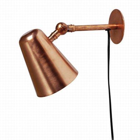 Kobber lampe til v�ggen