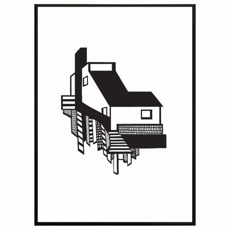 Kristina Dam - A House sort/hvid