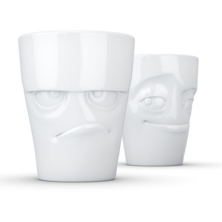 Krus med ansigter 2 stk - grumpy & impish
