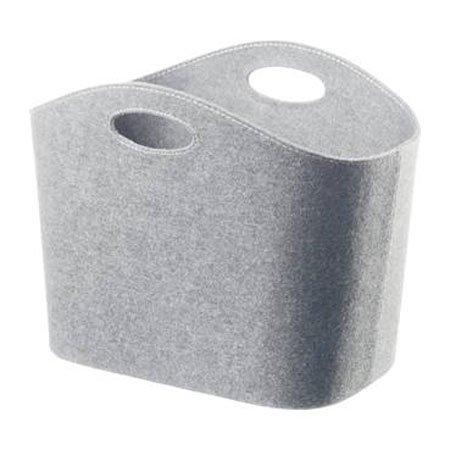 Kurv i lys grå filt