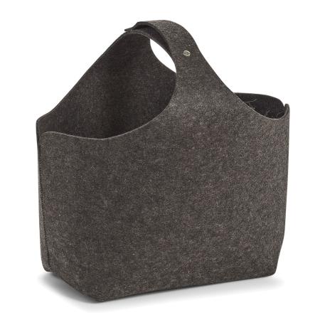 Kurv i mørk grå filt