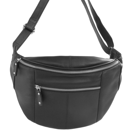 Bumbag - Sort lædertaske