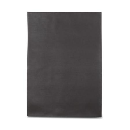 Læder dækkeserviet - mørk brun