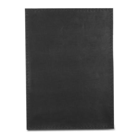 Læder dækkeserviet - sort skind