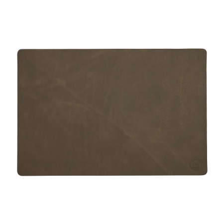 Læder dækkeserviet Witloft - mørkbrun