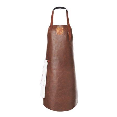 Læder forklæde i cognac - Witloft