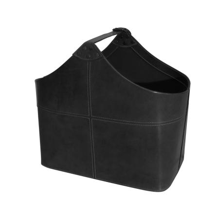 Læder magasinholder - sort