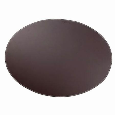 L�der d�kkeserviet - brun oval