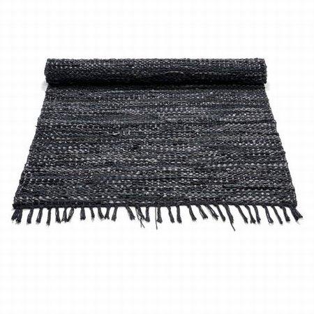 Læder tæppe - sort