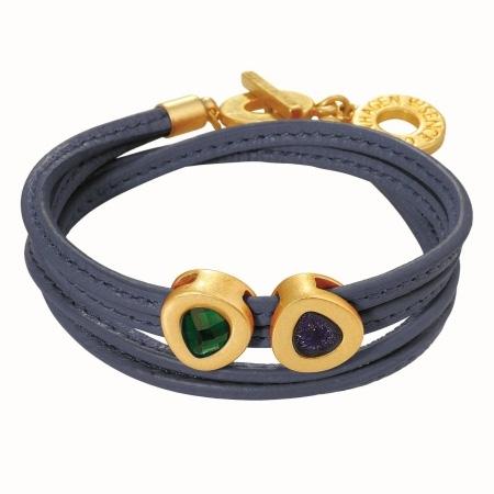 Sence Cph blå læder armbånd