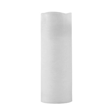 LED bloklys med timer - hvid 20 cm