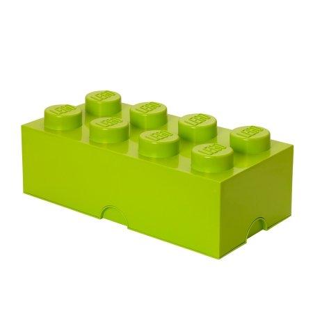 LEGO klods til opbevaring - Brick 8 lime grøn
