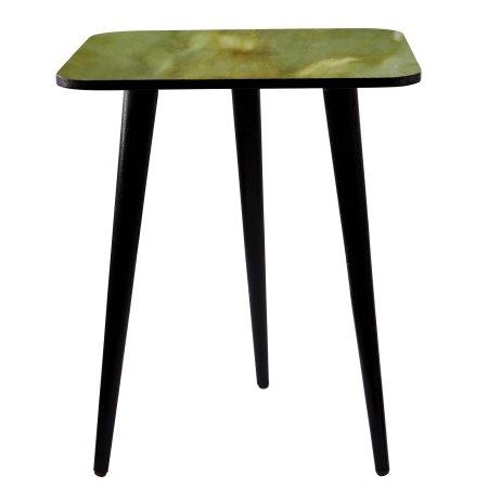 Bord grøn marmor look - firkantet