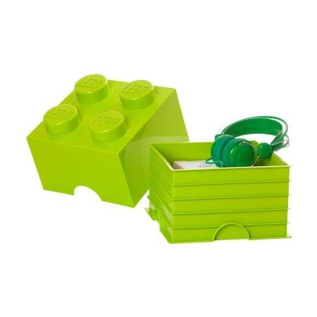 LEGO klods til opbevaring - Brick 4 lime grøn