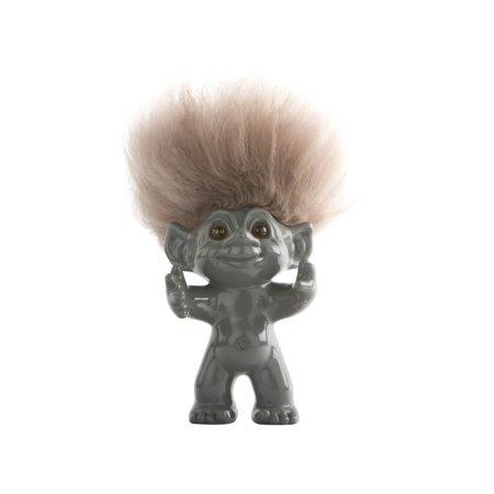 Lykketrolde - grå 9 cm