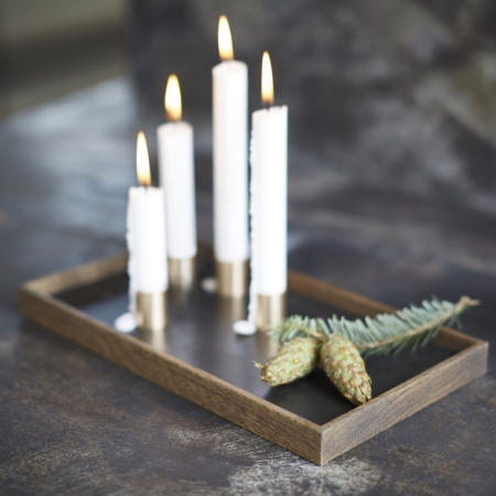 Candle Tray De Luxe - m�rk tr� med lysestager