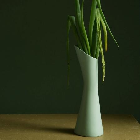 Stolt vase kande - duggblå