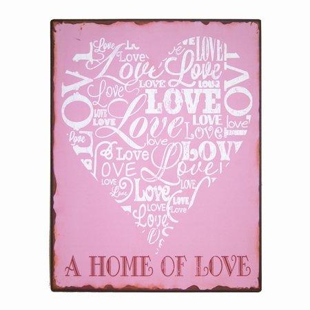 Metal skilt - A home of Love