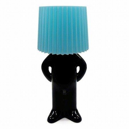 Mr. P lampe - sort/blå skærm