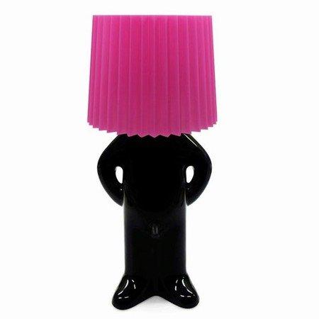Mr. P lampe - sort/pink skærm