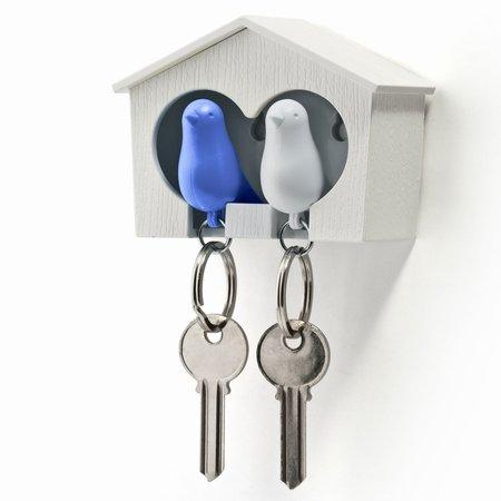 Dobbelt fugle hus med nøgleringe