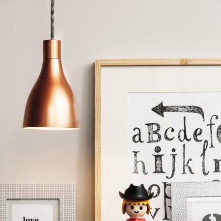 Nofoot loft lampe - kobber