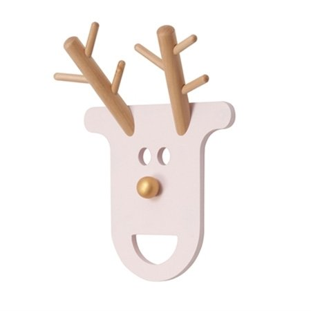 O Deer træ knage - rosa