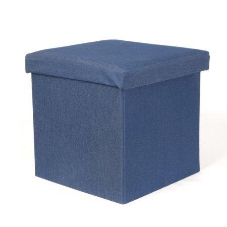 Opbevaringskasse / stol - denim blå