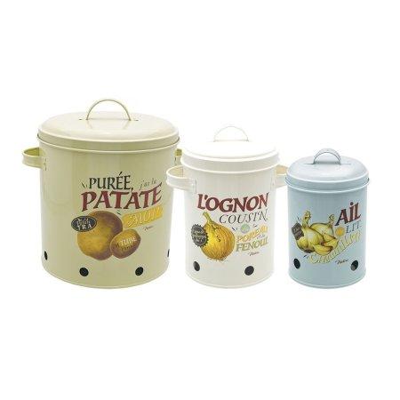 Opbevarings dåser til kartofler-løg-hvidløg