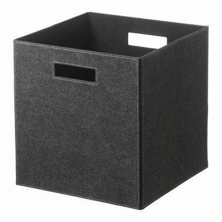 Opbevarings kasse - gr� filt