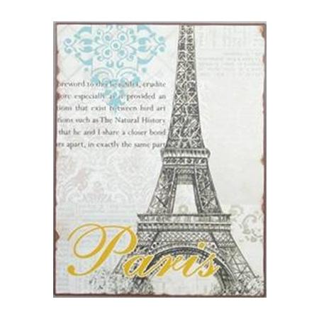 Metal skilt - Paris Eiffel tårnet