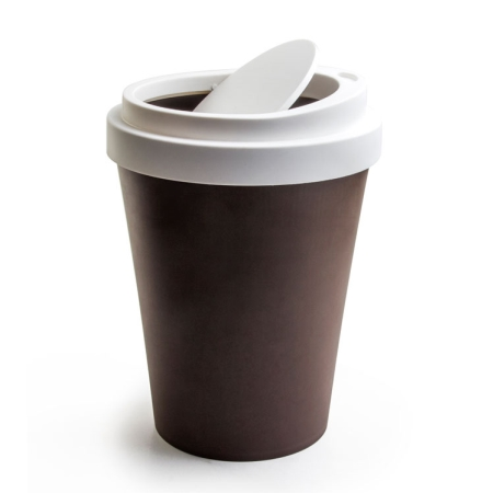 Papirkurv Coffee bin i brun - mini