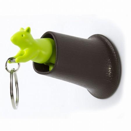 Egern nøgleholder - grøn og brun