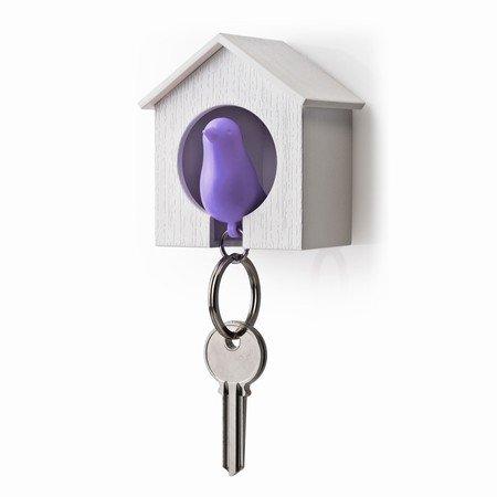 Qualy nøgleholder med fugl - lilla